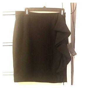 Black Zara skirt with side ruffle - M - NWT
